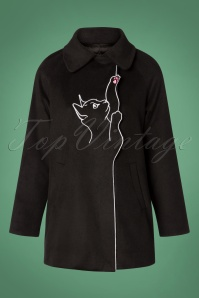 Banned Retro Black Lovley Cat Coat 152 10 26239 20181025 002w