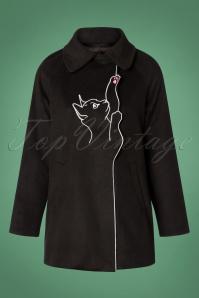 60s Lovley Laura Coat in Black
