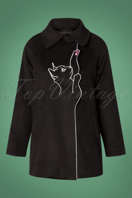 Banned Retro Black Lovley Cat Coat 152 10 26239 20181025 002w