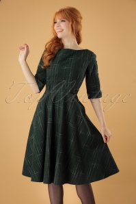 Banned Gabrielle Swing Dress in Green 122 49 26571 2018705 01W