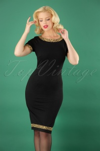 Banned Rock n Roll Leopard Dress in Green 26143 20180705 0012W