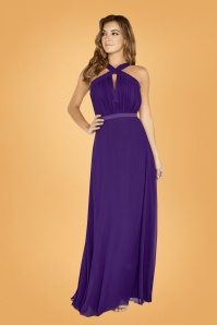 Little Mistress Purple Maxi Dress 108 60 26431 03bkg