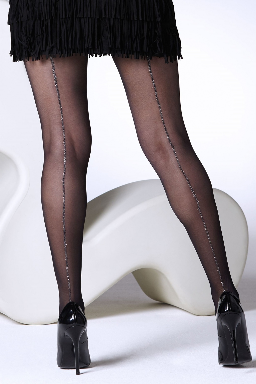 1950s Stockings and Nylons History & Shopping Guide 50s Sparkle Seamed Tights in Black £6.99 AT vintagedancer.com