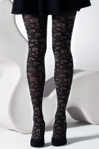 Gipsy Ditsy Flower Tights Black Multi 171 14 28276 20180704 0001