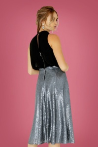 Littlw Mistress Black and Silver Dress 102 10 26432 02bkg