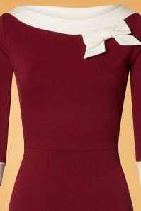 Steady Clothing Burgundy Boatneck With Bow Pencil Dress 100 20 26975 20181025 005b