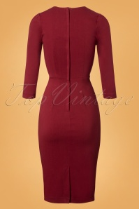 Collectif Clothing Vanessa Pencil Dress in Red 24888 20180627 0005W