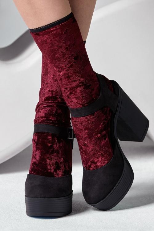 Gipsy Socks Velvet Burgundy 174 20 28281 20181011 0001