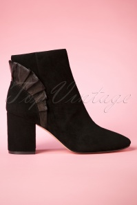 60s Aileen Suede Ankle Booties in Black