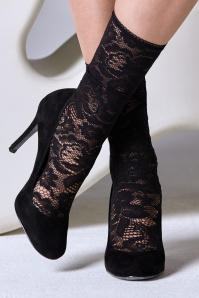 50s Lace Socks in Black