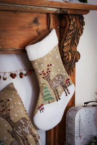Winter Wonderland Folk Deer Stocking