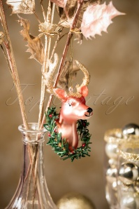Reindeer Wreath Hanging Decoration