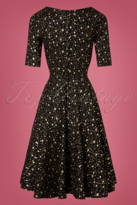 Collectif Clothing Black 50s Trixie Atomic Star Doll Dress 102 14 24904 20181029 003W