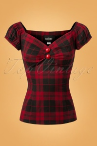 Collectif Clothing BlackRed 50s Dolores Top 110 27 24856 20180626 002W