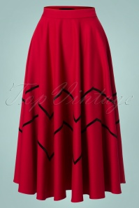 Collectif Clothing Red Milla Swing Skirt 122 20 24833 20180702 005W