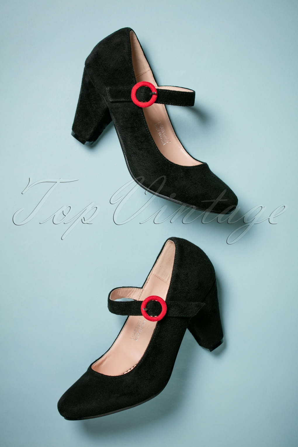 Vintage Style Shoes, Vintage Inspired Shoes 50s Marianne High Heel Pumps in Black £47.26 AT vintagedancer.com