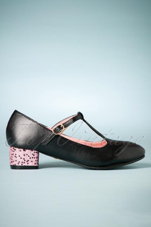 Lulu Hun Chrissie glitter T strap shoes 401 10 25580 07262018 013W
