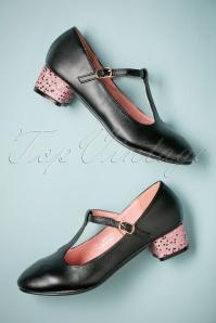 Lulu Hun Chrissie glitter T strap shoes 401 10 25580 07262018 006W