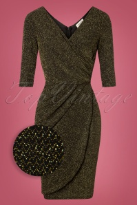 Sugarhill Black Gold Millie Sparkle Dress 100 10 26287 20181029 002Z
