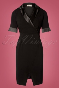 Sugarhill Brighton 60s Corinne Tuxedo Dress in Black