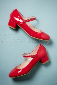 Lulu Hun Mary Jane Red shoes 402 20 25586 07262018 006W