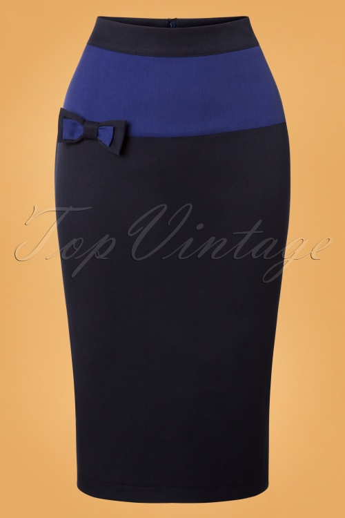 Banned Colour Black Skirt in Blue 26139 20180718 0003W