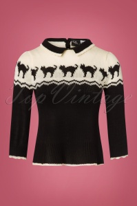 SugarShock 40s Izzara Jumper in Black and Cream