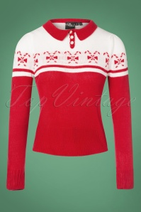 SugarShock 40s Katika Candy Jumper in Red and White