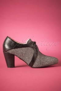40s Alex Shoe Booties in Black and Grey