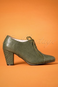 40s Amelia Shoe Booties in Green