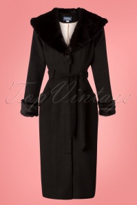 Collectif Clothing 50s Carmella Coat in Black