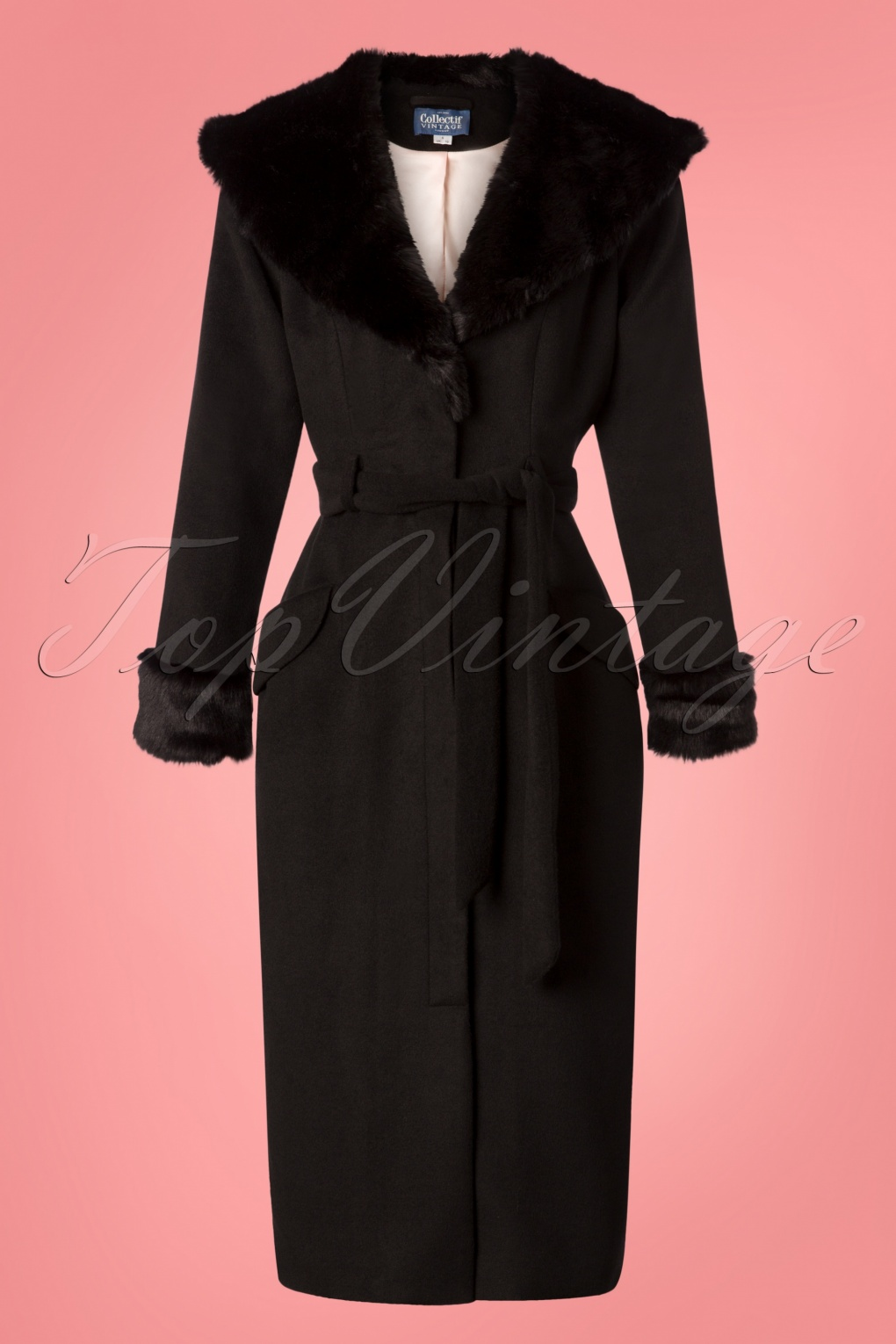 1950s Jackets, Coats, Bolero | Swing, Pin Up, Rockabilly 50s Carmella Coat in Black £95.29 AT vintagedancer.com