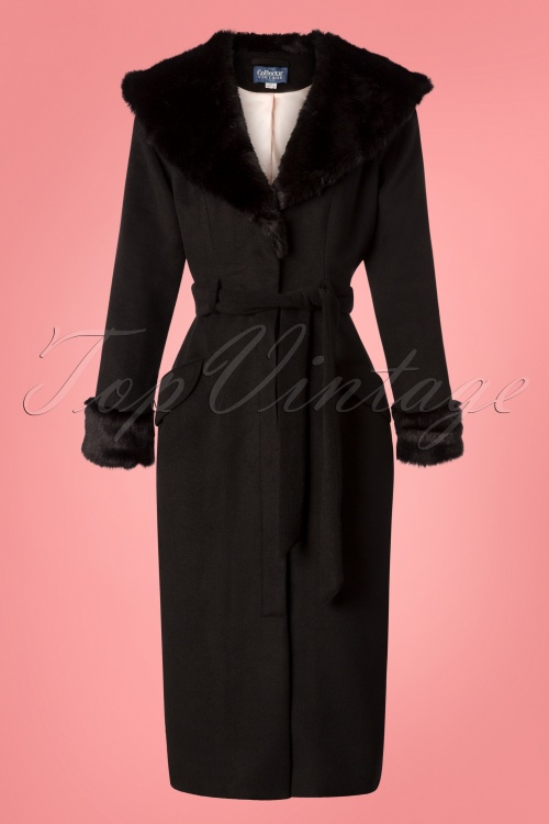 Collectif Clothing 50s Carmelia Black Coat 152 10 24778 20180704 0010W