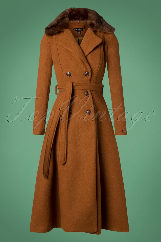 Women's 70s Shirts, Blouses, Hippie Tops 70s Caron Coat in Camel £175.08 AT vintagedancer.com