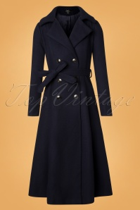 Bright And Beautiful Navy Caron Plain Coat 152 31 25497 20181031 044W