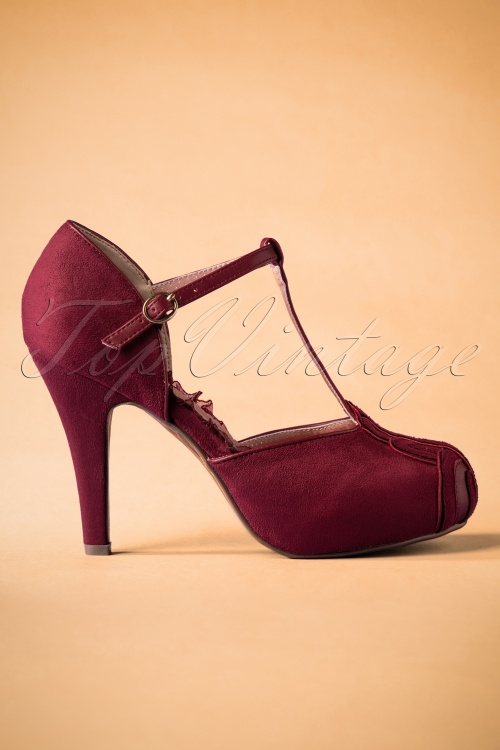 Bettie Page Tstrap Emile Burgundy 401 60 25805 20181031 0305W