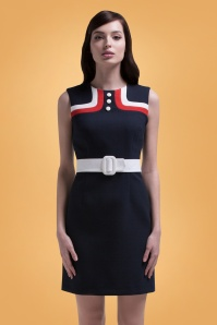 Marmalade Navy Pencil Dress 100 31 26280 01bkg