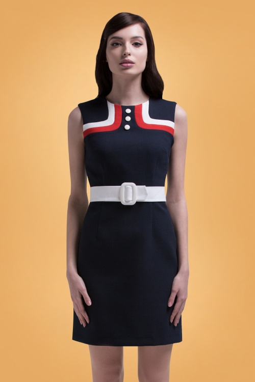 Marmalade Navy Pencil Dress 100 31 26280 01bkg
