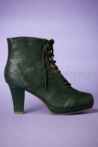 Bettie Page Shoes Adamay Booties Green 430 40 25807 10182018 008W