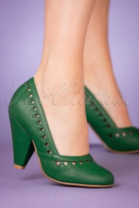 50s Marjorie Pumps in Green