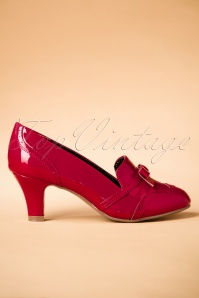 50s Sadey Patent Pumps in Red