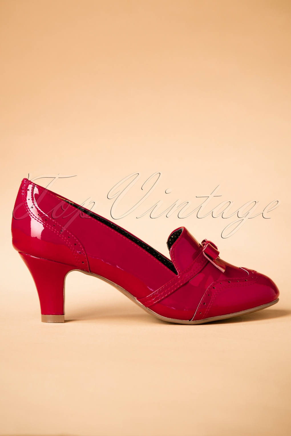 Vintage Christmas Dress | Party Dresses | Night Out Outfits 50s Sadey Patent Pumps in Red £64.63 AT vintagedancer.com