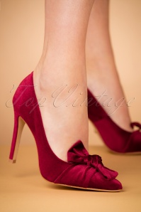 50s Veluto Pumps in Bordeaux