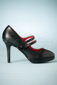 Bettie Page Shoes Mina Mary Jane Pumps in black 402 10 25574 07262018 013W