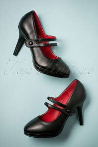 Bettie Page Shoes Mina Mary Jane Pumps in black 402 10 25574 07262018 007W