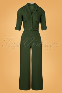 40s Francine Jumpsuit in Green