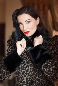 Vixen Violet Faux Fur Leopard Coat 152 79 25060 20180828 0015W