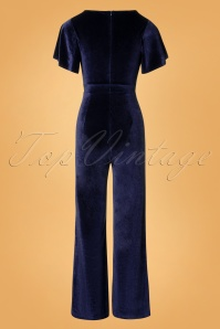 Rebel Love Clothing Dark Blue Velvet Jumpsuit 133 40 27528 20181031 007W