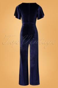 Rebel Love Clothing Dark Blue Velvet Jumpsuit 133 40 27528 20181031 007W