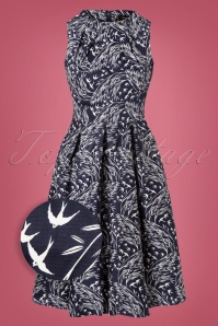 50s Zabrina Swing Dress in Navy